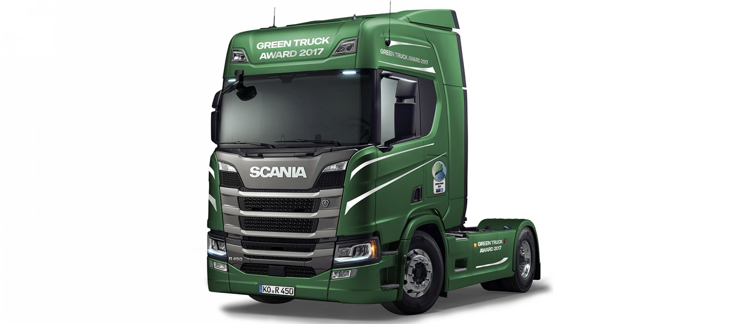 scania modtager prisen green truck of the year 2017. Black Bedroom Furniture Sets. Home Design Ideas