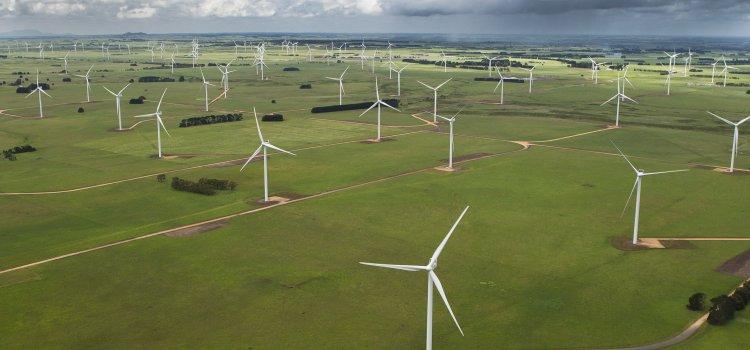 Medvind for vestas vindkraftverk